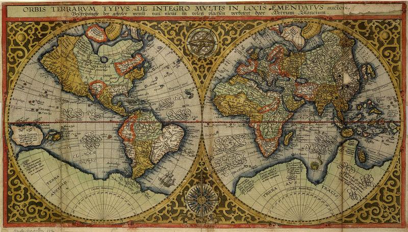 Orbis Terrarum Plancius.1590